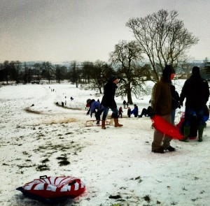 Welcombe Hills Sledging
